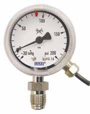 Mechanical Pressure Measurement Indicating Pressure Switch Gauges Used in gas delivery applications, WIKA s Indicating Pressure Switch (IPS) Gauges are available with either a magnetic reed or