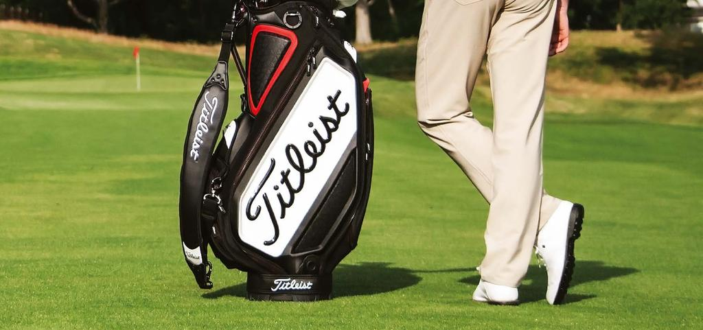 THE NEW TITLEIST TOUR STAFF BAG DELIVERS A LIGHTER WEIGHT DESIGN WITH ENHANCED DURABILITY THAT MEETS THE