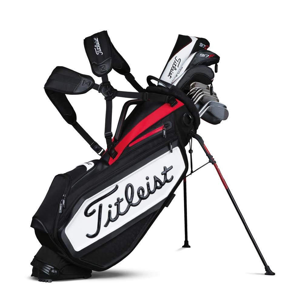 Tour-inspired magnetic accessories pocket 2 1 5 Full contact hinged base 3 Titleist golf club inspired design