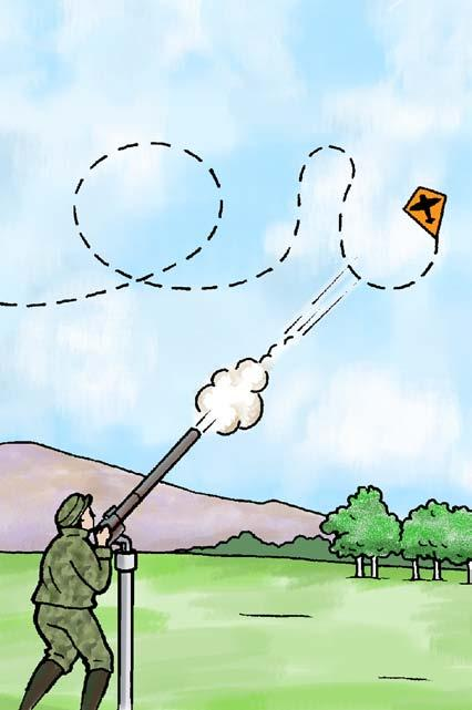 Years ago, some armies used kites with cameras to spy on enemy troops.