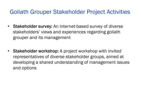 This project had two parts, an in-depth stakeholder survey and a focused stakeholder workshop.