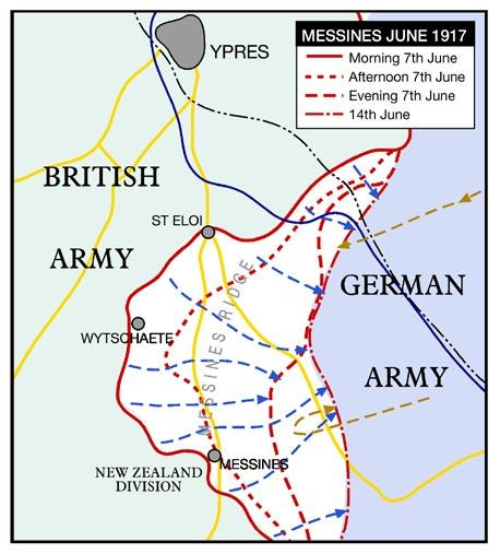 Offensive and removing a German vantage point. The attack was to be carried out along a 10 km front by 9 Divisions of the British Second Army under General Plumer.
