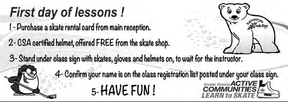 Lessons ATTENTION PARENTS! Last day of lessons is Parents Day! Join your children on the ice for a fun-filled session of games and instruction!