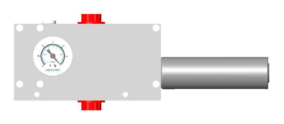 7] SMS : SURFACE MOUNT W/ SIDE GAUGE The SMS (Surface Mount Side gauge) option features the same pump base as the SM option with a side mounted