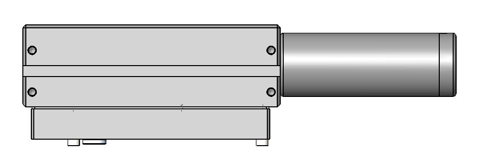 Vacuum gauge, silencer, and full-length T-slot are included. A A.0 [7.7] 0.4 [.].57 [.].0 [7.7] 0.4 [.4] 0.