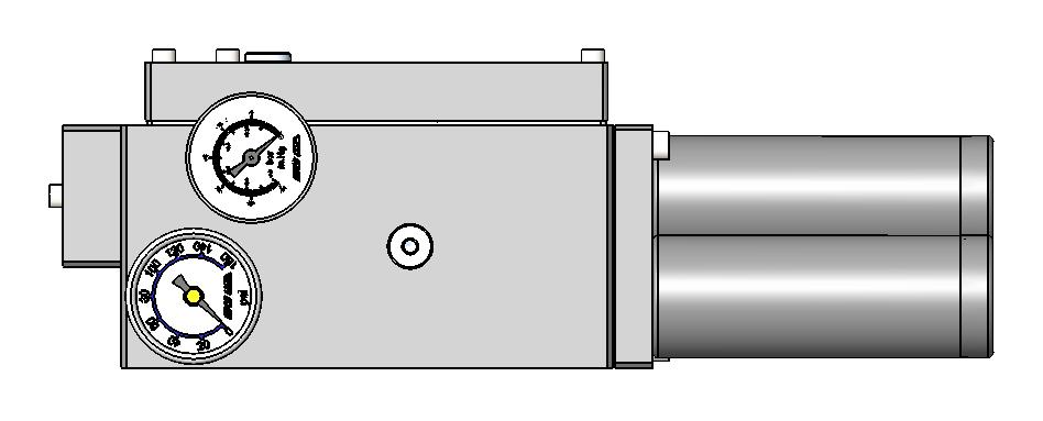 TRIPLE BASE PUMP Basic pump assembly has an air supply bypass plate for control via on/off air supply to the pump base inlet port.