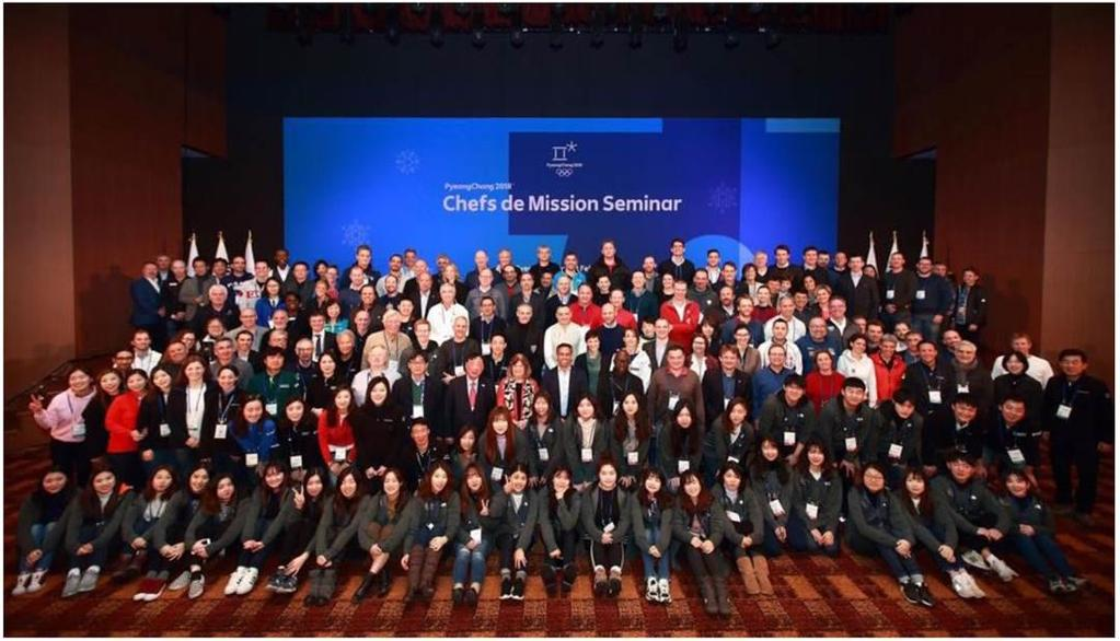 NOC Chefs de Mission Seminar Summary 1-3 February 2017, PyeongChang 130 delegates from 74 NOCs Follow-up Report