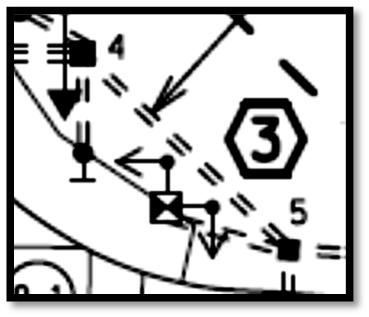 CHAPTER 6. PLAN DEVELOPMENT 6.2.5.5 Handhole Labeling Number the handholes clockwise with respect to the controller cabinet with Number 1 being adjacent to or near the controller cabinet.