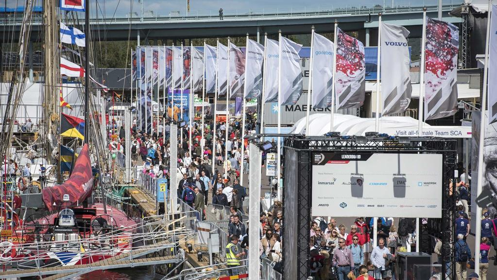 HOST CITY OF THE VOLVO OCEAN RACE ON-SITE BRANDING Sponsors will have prominent banner advertising and promotional flags positioned along the Race Village
