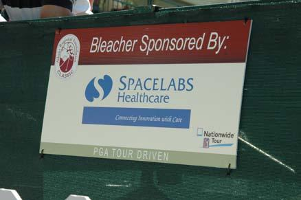 BLEACHER SPONSOR $2,500 Spectator Viewing Bleachers are located on the 17 th and 18 th holes.