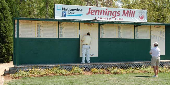 Spectators, VIP s, Volunteers, Players, Caddies, Media, Tournament Officials and other staff will see your logo as they check all the scores from the tournament.