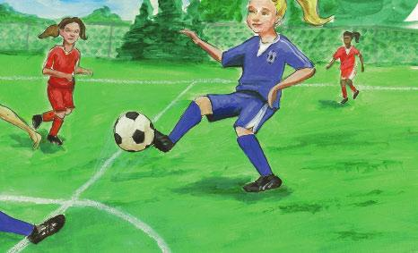 But that was at her old school. At her new school, after a few practices, Tammy played her first game. She played hard.