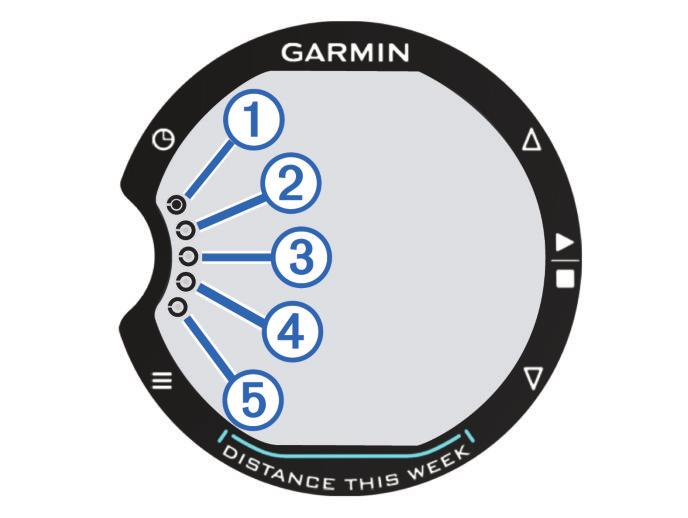 Getting Started When using your Garmin Swim for the first time, complete these tasks. 1 Select any key to turn on the device. 2 Follow the on-screen instructions. 3 Select, and set the pool size.