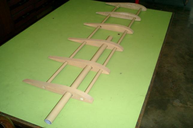 The development of the airfoil model is shown