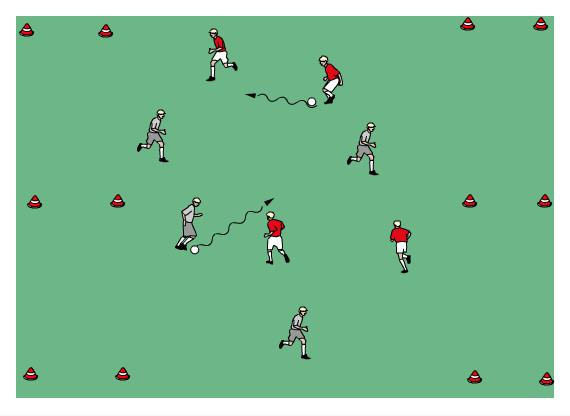 U7/8 Week 4 April 29th Theme: They have the ball! 110% Best Defender Warm-up: Change All players have a ball and dribbles a ball. When coach says change then go to a new ball.
