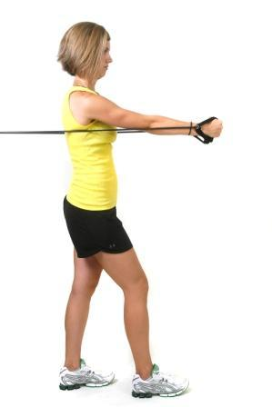 Chest Fly Anchor: Chest height Start: Stand with a split stance arms open out to the side, palms