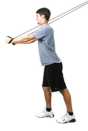 Decline Chest Fly Anchor: High, top of door Start: Stand with a split stance arms open out to the