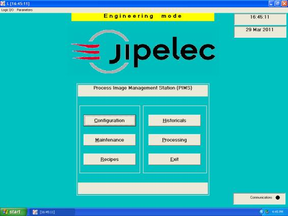 5.3 Editing an Existing Recipe 5.3.1 To begin editing an existing recipe, select the Recipes button (Fig. 5.2.1a) from the main Jipelec software interface menu. (Fig. 5.2.1a) 5.3.2 If prompted for an Engineering password (Fig.