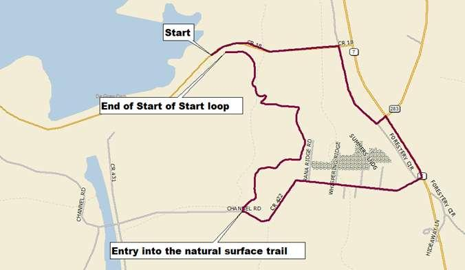 The 11 Mile Tour is a non-competitive event. Participants must cover the prescribed course in its entirety. It is the participant's responsibility to know the course. Iron Mt 50 Mile Marathon Course.