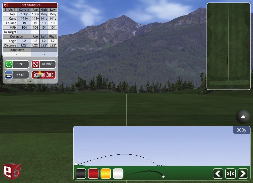 Move the Ball icon to or click/touch where you want to putt from.