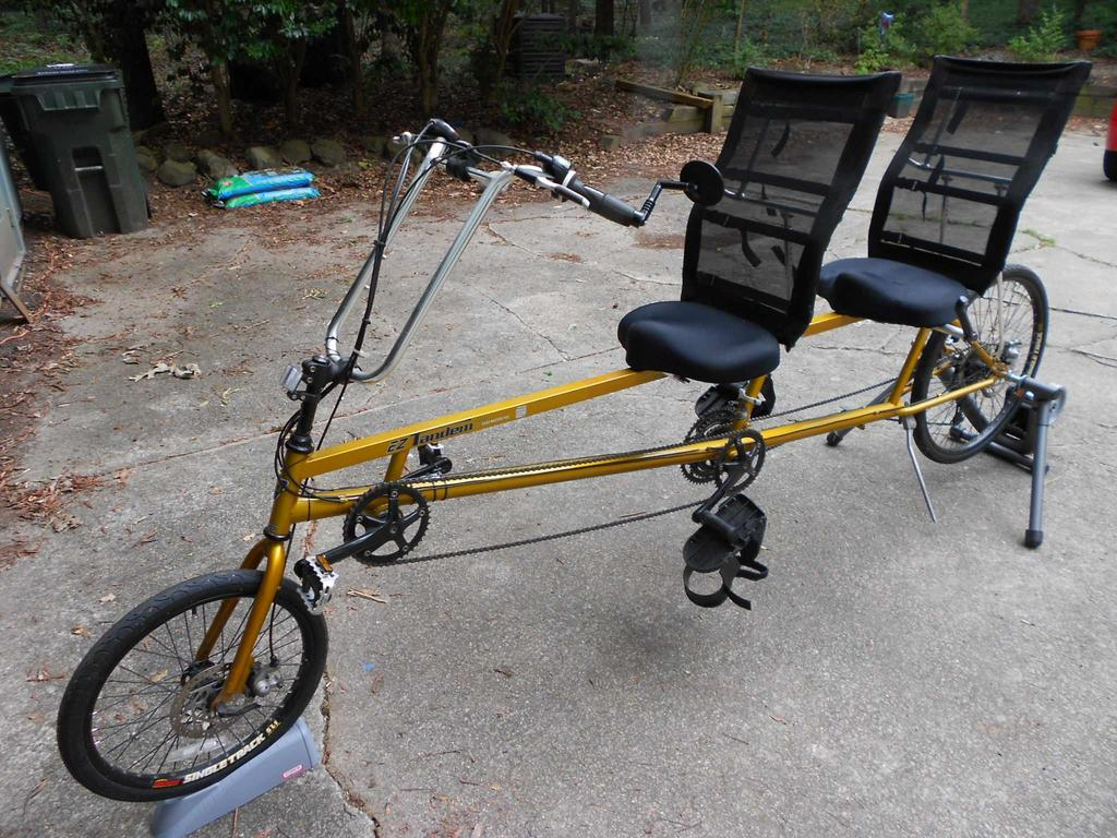The Sun EZ Tandem is a recumbent, tandem bicycle that is ideal for use within an assisted cycling program that provides expertise from the captain's (front) position to the stoker (rear) position.