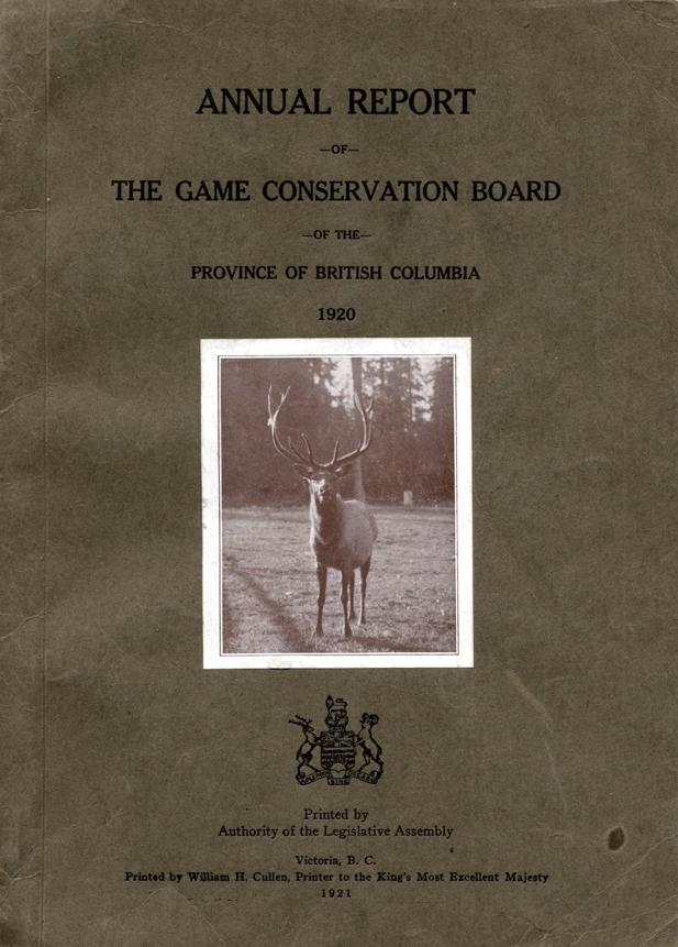 An appointed Game Conservation Board made recommendations on seasons and regulations. It was only an advisory board and many of its recommendations were never passed into law. Its first Chairman A.R.