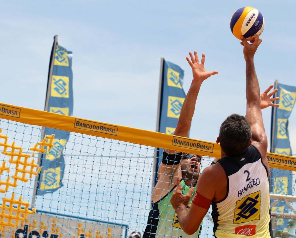 Photos: Confederação Brasileira de Voleibol BRAZILIAN BEACH VOLLEYBALL PACKAGE Organized by CBV (Brazilian Volleyball Confederation), it s the main beach