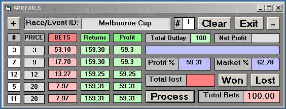 Strategy 5: Five Selections A range of ideas are presented here for betting over five Selections. 5.1 Cover Five Competitors In A Competition Let s say you ve done the form and fined it down to five runners for, say, The Melbourne Cup.