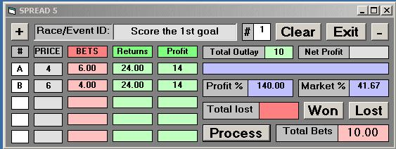 Competent Tipsters and Selection Services will give you a steady stream of successful bets. This example shows a bet on two footballers to score the first goal in a football match. 2.