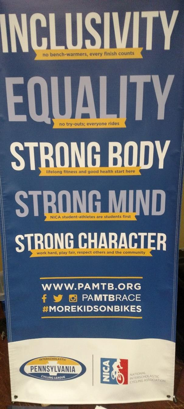 Five Core Principles: Inclusivity, Equality, Strong Body, Strong Mind and Strong