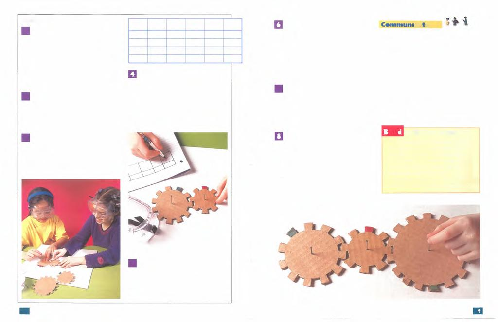 Procedure D Trace each of the gears shown onto separate pieces of paper. Cut out each gear and trace around or glue them onto one of the cardboard sheets.