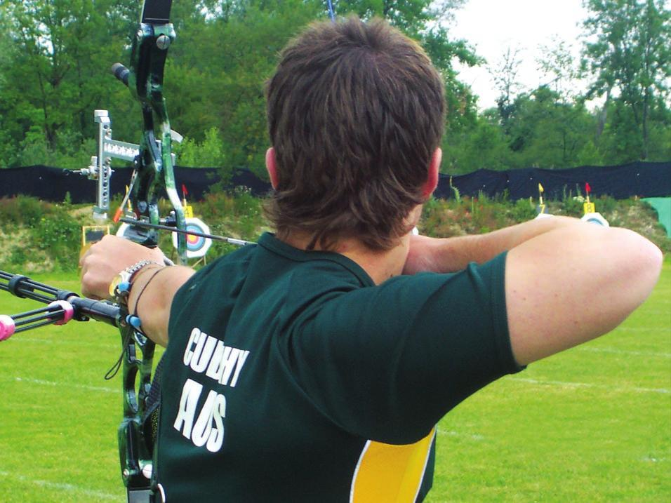 Archers shooting with a high bow shoulder have to rely on muscles to hold the shoulder in position.