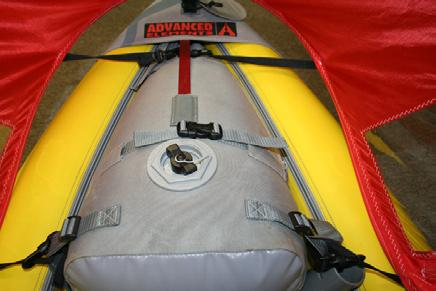TM AirFusion Kayak: (Model 1040) 1. Connect the Carabiner to the forward most d-ring closest to the front of the kayak. 2.