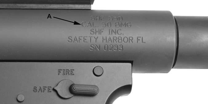 AMMUNITION ^ DANGER Risk of serious injury or death. Failure to use the proper gauge or caliber of ammunition will cause your firearm to fail when firing.