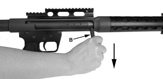 Figure 16 7. When you stop firing, remove your finger from the trigger and place the safety lever (A) in the SAFE position.