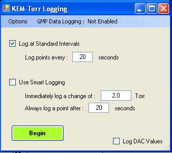 Pressure Pressure Pressure Time Time Logging Pressure Data There are two logging methods, 1) Standard Logging, and 2) Smart Logging.