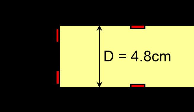 The length, width and thickness of the horizontal plate were L = 65 cm, B = 18 cm and D = 4.8 cm, respectively. The model scale was assumed to be 1:50.