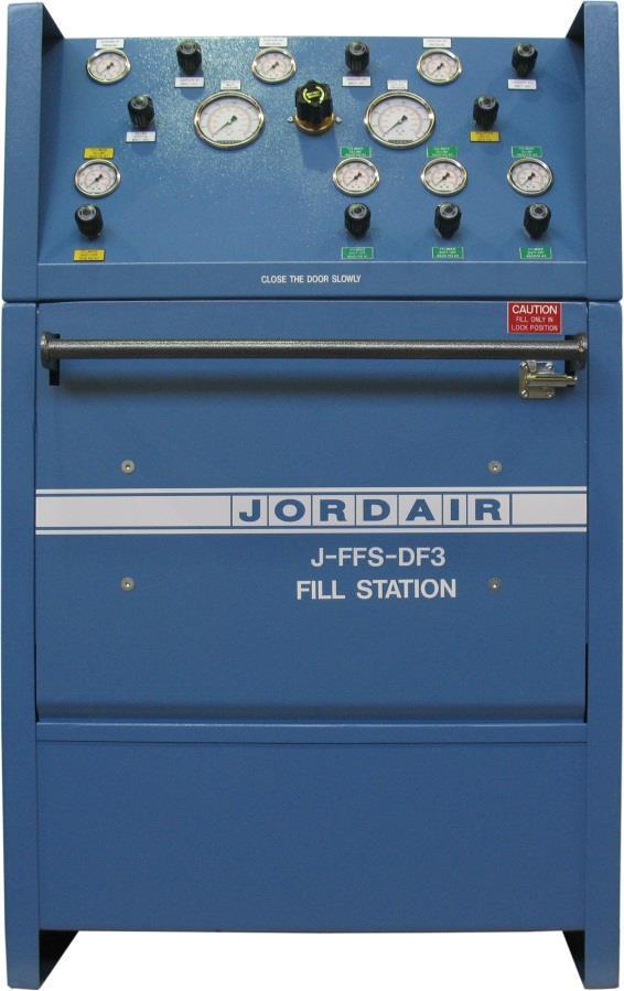 DF SERIES FILL STATIONS Jordair QC Program System Features: ISO 9001:2008 Cert. 97-544 Larger gauge panel for all features Third Party Tested CSA Cert. No.