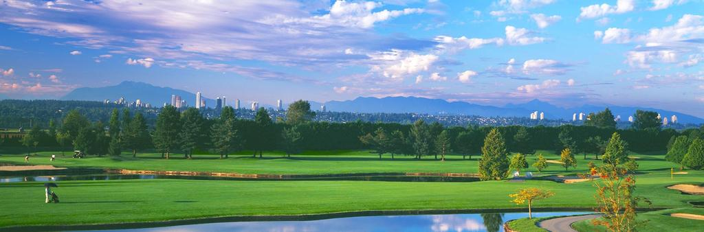 Mayfair Lakes Golf Club With the towering beauty of Vancouver's North Shore Mountains serving as a backdrop,