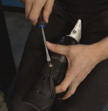 HOW TO: REPLACE TENDON GUARD 1 Using a hammer,