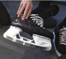 HOW TO: SKATE ON 1 Have skate laced down at least two full eyelets and