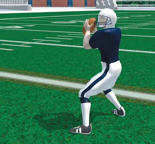 Step forward with front foot to begin throwing motion. Best used for short, quick passes, such as a quick out, slant, or hitch.