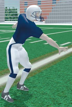 SPRINT OUT Take snap and open to the side of the sprint out. Gain depth and width. Hold ball in both hands at the middle of your chest.