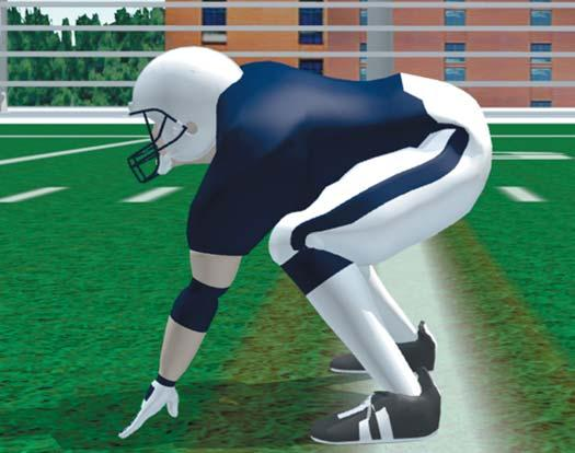 Have head up and look straight ahead. Be prepared to move in any direction. Best used in deep position in I, One-back, Wing formations, or when quarterback is in shotgun formation for pass plays.