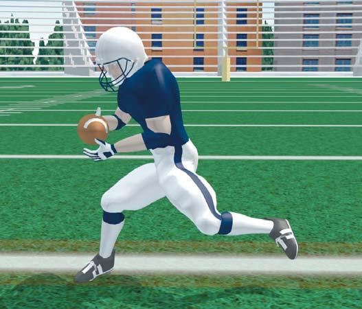 Secure the ball immediately after catch. Expect to be hit. RECEIVERS 2-POINT STANCE - WR Stagger feet with inside foot back. Adjust weight over front foot.