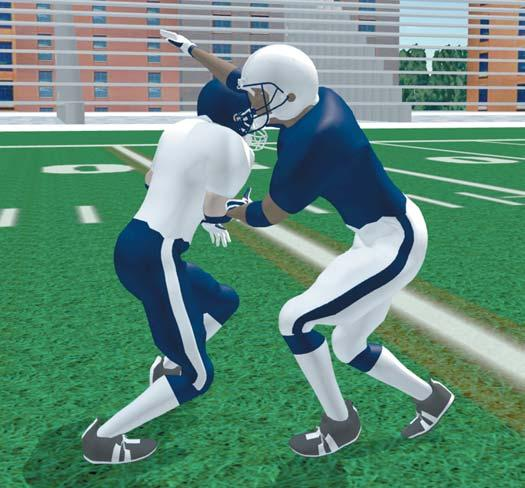 OFFENSIVE SKILLS S E C T I O N I I I RECEIVERS SWIM RELEASE - WR & TE Take quick inside step with back foot. Take a long second step with outside foot.