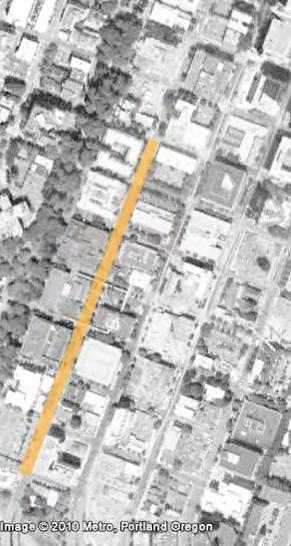 PORTLAND BUREAU OF TRANSPORTATION Project OVERVIEW Cycle track project stretches seven blocks
