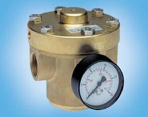 NR/una-N with PTFE coating Inner valve: brass up to G2 1 15 / 50 bar Dimensions Regul.