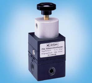 Precision Volume ooster / Differential Pressure Regulator 53.19 53.24 The volume booster amplifies the volume at a 1:1 ratio of pressure to pressure.