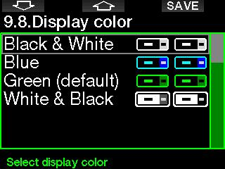 2.9.6 Show owner info The owner information in this menu can only be entered via LogTRAK software. 2.9.8 Display color The G2 s display power consumption is independent of the color that s used.